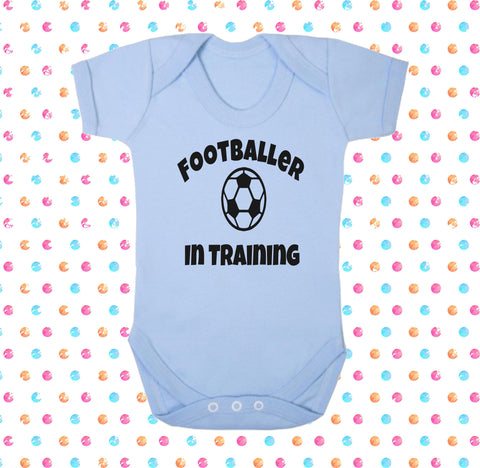 Footballer In Training Bodysuit - Click My Clobber
