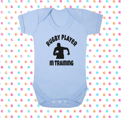 Rugby Player In Training Bodysuit - Click My Clobber