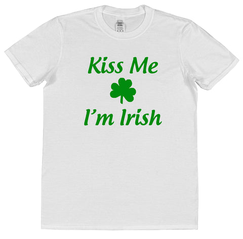 Kiss Me I'm Irish St Patrick's Day T-Shirt (Mens or Ladies) - Click My Clobber