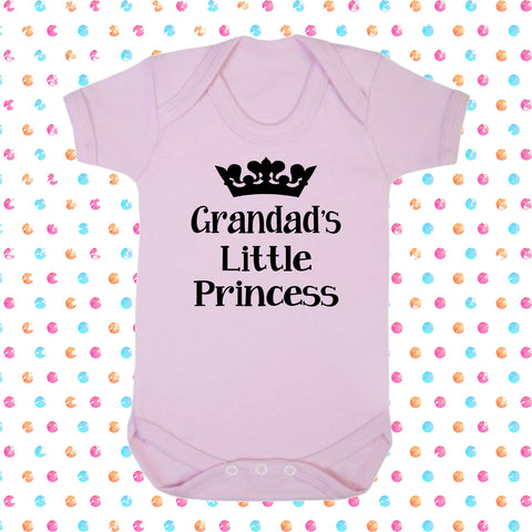 Grandad's Little Princess Bodysuit - Click My Clobber