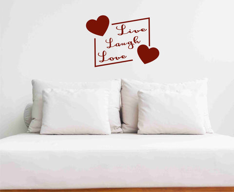 Live Laugh Love Wall Decal - Click My Clobber