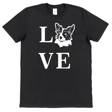 Love Border Collie Dog T-Shirt (Mens or Ladies) - Click My Clobber