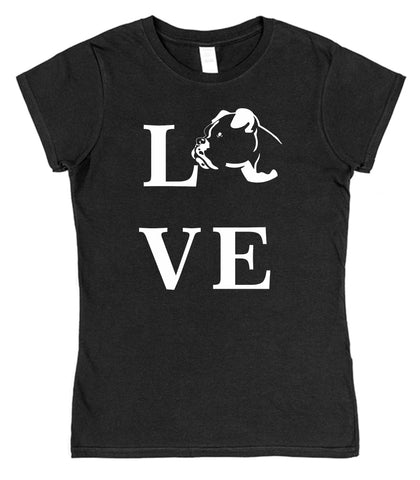Love Boxer Dog T-Shirt (Mens or Ladies) - Click My Clobber