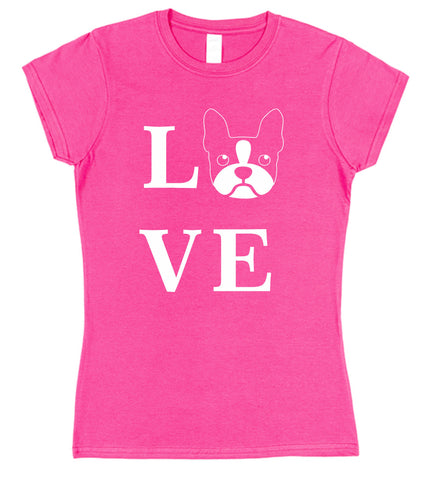 Love Frenchie Dog T-Shirt (Mens or Ladies) - Click My Clobber