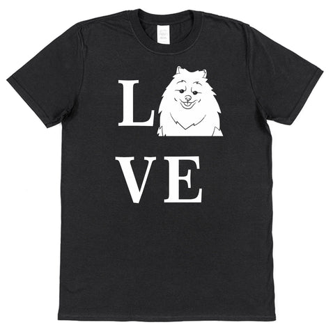 Love Pomeranian Dog T-Shirt (Mens or Ladies) - Click My Clobber