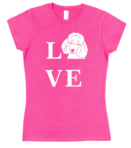 Love Poodle Dog T-Shirt (Mens or Ladies) - Click My Clobber