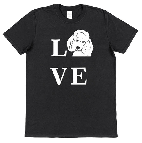 Love Poodle Dog T-Shirt (Mens or Ladies)