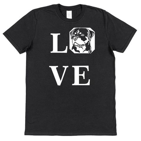 Love Rottweiler T-Shirt (Mens or Ladies) - Click My Clobber
