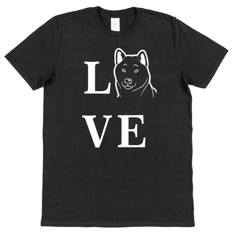 Love Shiba Inu Dog T-Shirt (Mens or Ladies) - Click My Clobber