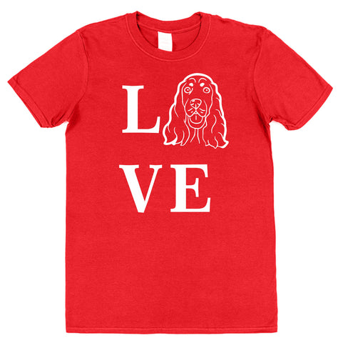 Love Spaniel Dog T-Shirt (Mens or Ladies) - Click My Clobber