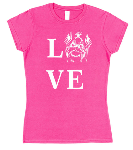 Love Yorkie Dog T-Shirt (Mens or Ladies) - Click My Clobber