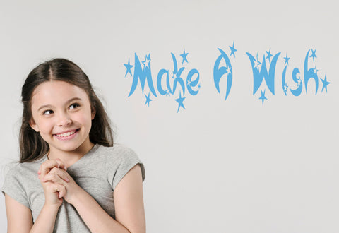 Make A Wish Wall Decal - Click My Clobber