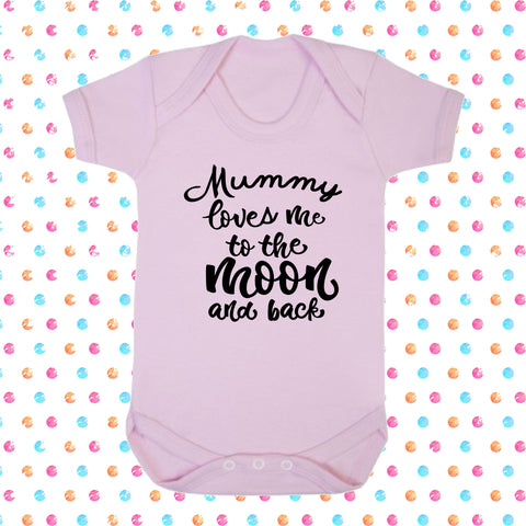 Mummy Loves Me To The Moon And Back Bodysuit - Click My Clobber