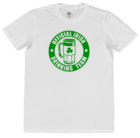 Official Irish Drinking Team St Patrick's Day T-Shirt (Mens or Ladies) - Click My Clobber