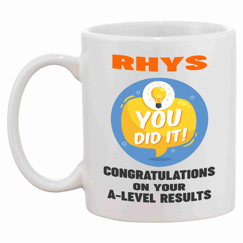 Personalised A-Level Congratulations Mug - Click My Clobber