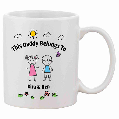 Personalised This Daddy Belongs To Mug - Click My Clobber
