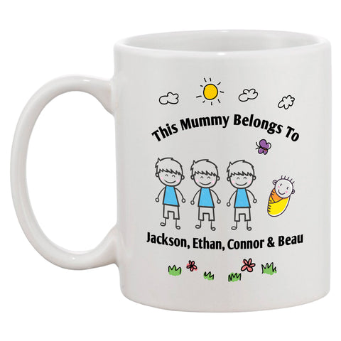 Personalised This Mummy Belongs To Mug - Click My Clobber