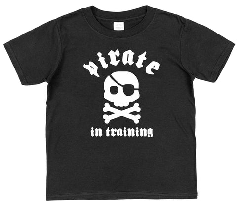 Pirate In Training Kids Cotton T-Shirt - Click My Clobber