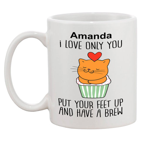 Personalised I Love You (Cat Picture) Mug