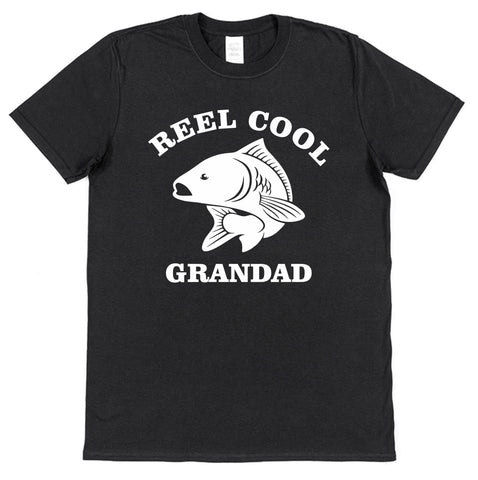 Reel Cool Grandad Fishing T-Shirt - Click My Clobber