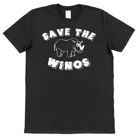 Save The Winos T-Shirt - Click My Clobber