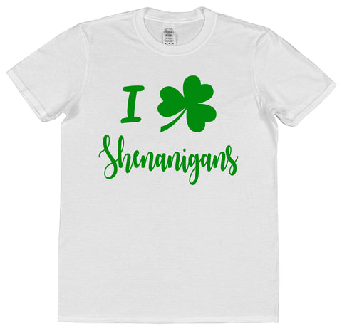 I Love Shenanigans St Patrick's Day T-Shirt (Mens or Ladies) - Click My Clobber