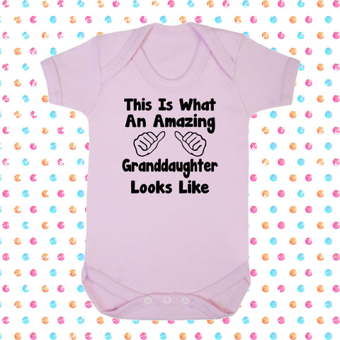 This Is What An Amazing Grandaughter Looks Like Bodysuit - Click My Clobber