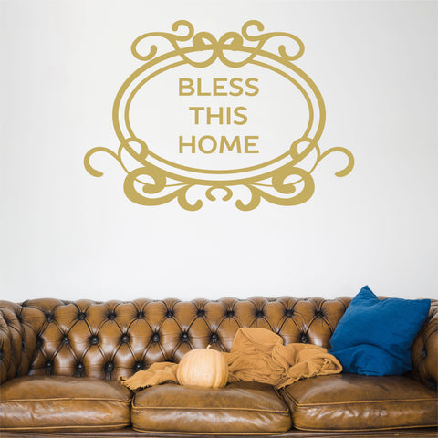 Bless This Home Wall Decal - Click My Clobber