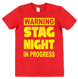 Warning Stag Night In Progress T-Shirt