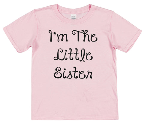 I'm The Little Sister Kids Cotton T-Shirt - Click My Clobber
