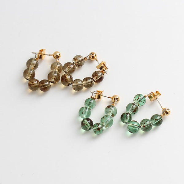 18K Gold Plated Beaded Chain Stud Earrings