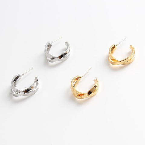 18K Gold Plated Infinity Hoop Earrings
