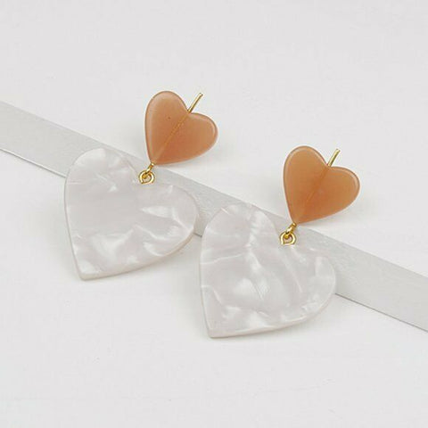 Madewell Heart of Hearts Statement Earrings