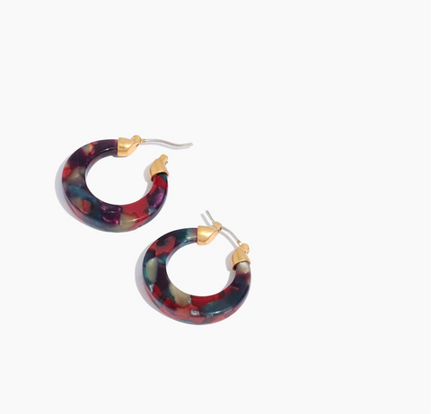 Madewell Acetate Hinged Post Hoop Earrings