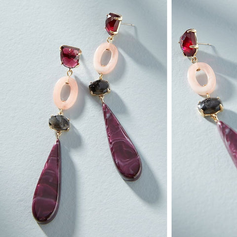 Anthropologie Rebekah Resin Drop Earrings