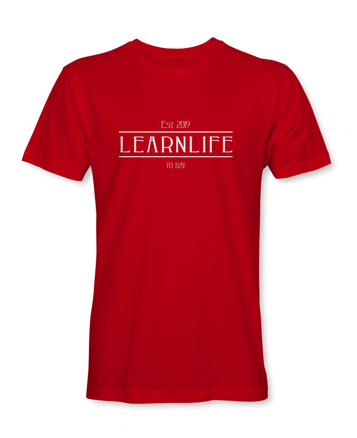 Red: LEARNLIFE Short-Sleeve tee - TO BAY LLC