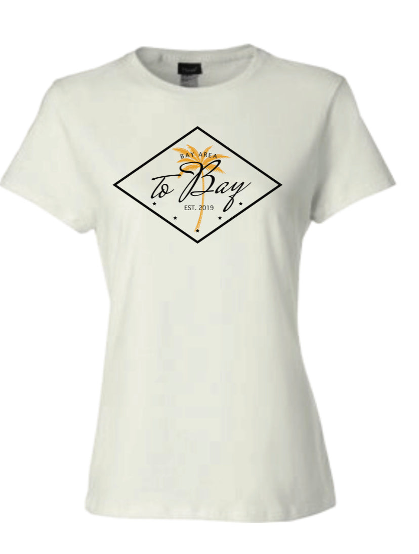 Women's: TOBAY / Palm Tree tee in White
