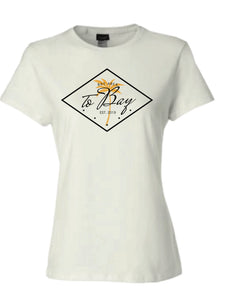 Women's: TOBAY / Palm Tree tee in White - TO BAY LLC