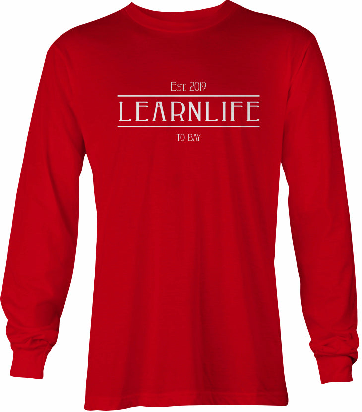 Red: LEARNLIFE Long-Sleeve tee - TO BAY LLC