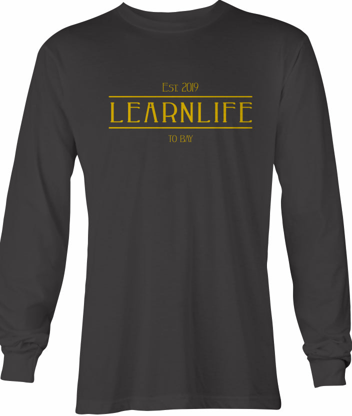 Black: LEARNLIFE Long-Sleeve tee - TO BAY LLC
