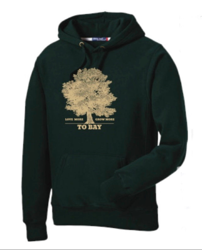 Dark Green: Love More / Grow More Hoodie - TO BAY LLC