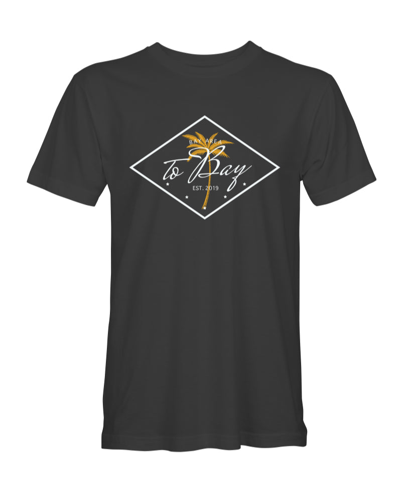 Black: Men's TO BAY / Palm Tree tee - TO BAY LLC