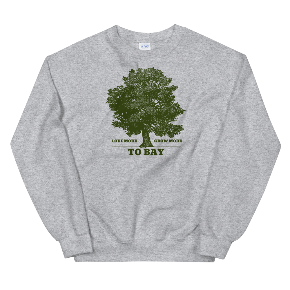 Gray: Love More / Grow More Crewneck - TO BAY LLC