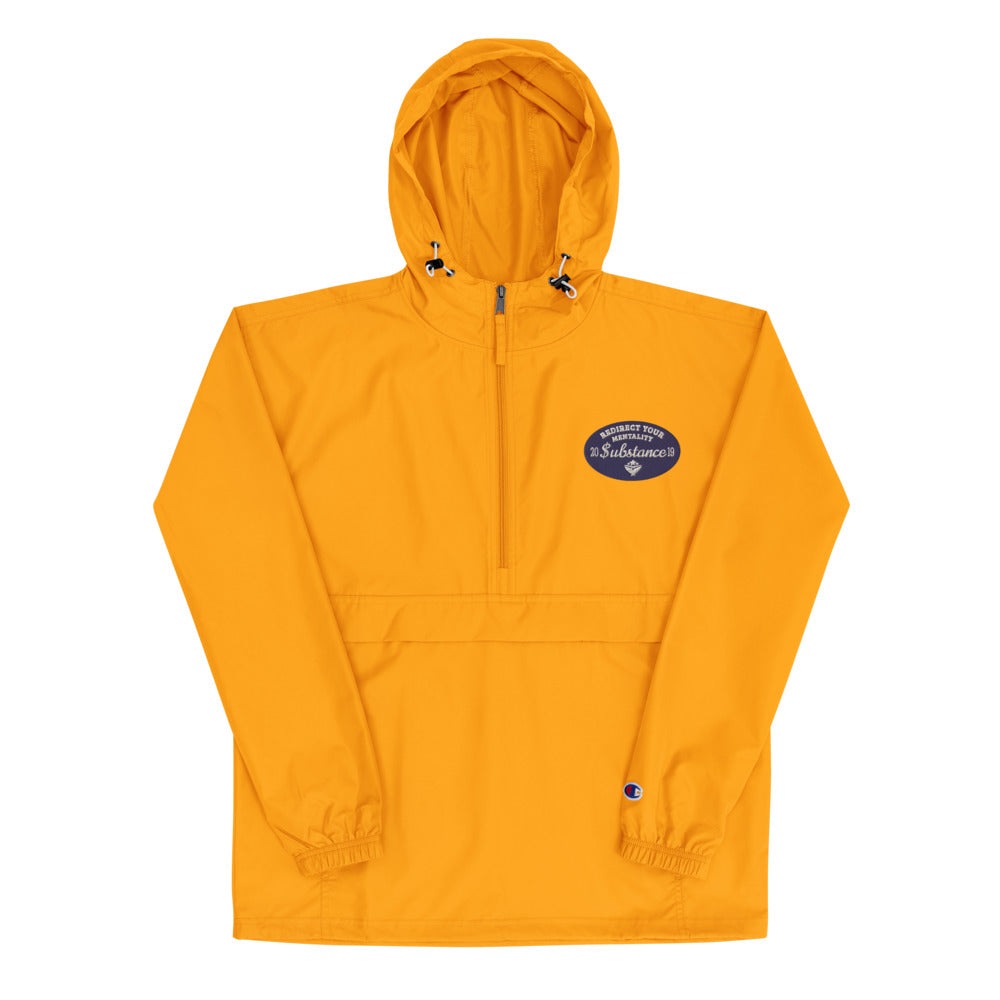 TO BAY Substance Navy Logo Packable Jacket (5V)