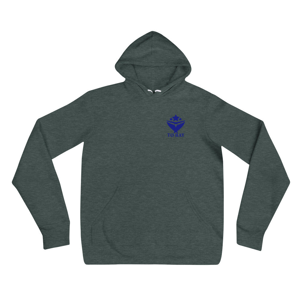 TO BAY Statement Hoodie Navy Logo (3 Colors)
