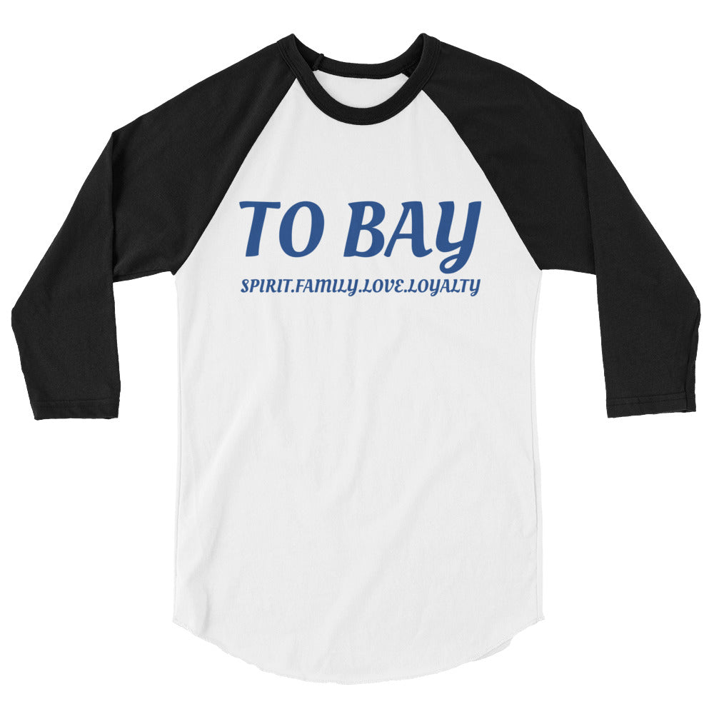 TO BAY 3/4 sleeve raglan shirt Blue Logo (5 Colors)