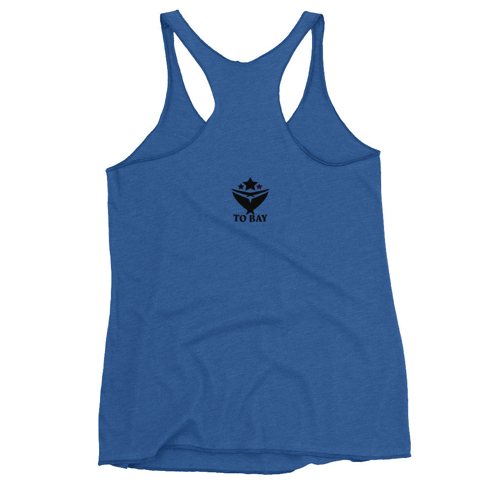 TO BAY Women's Racerback Tank Black Logo (6 Variants)
