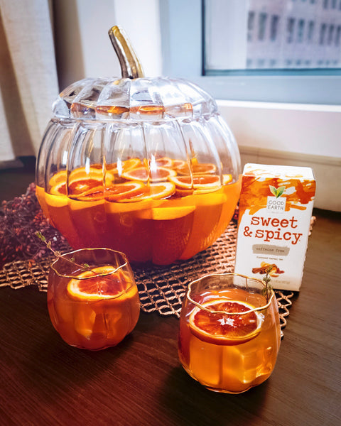 sweet & spicy orange apple cider punch