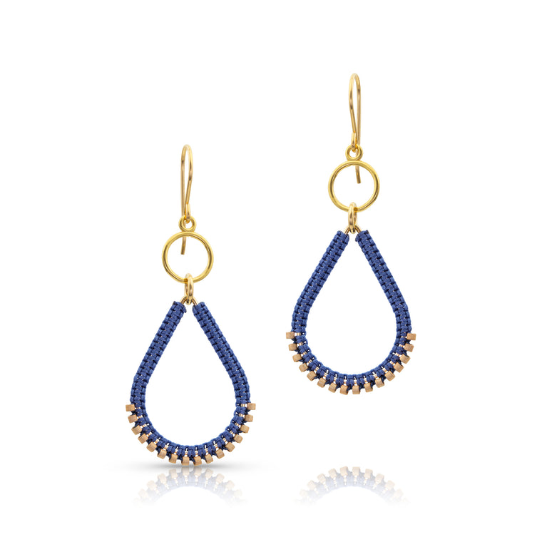 Summer Blue Teardrop Earrings