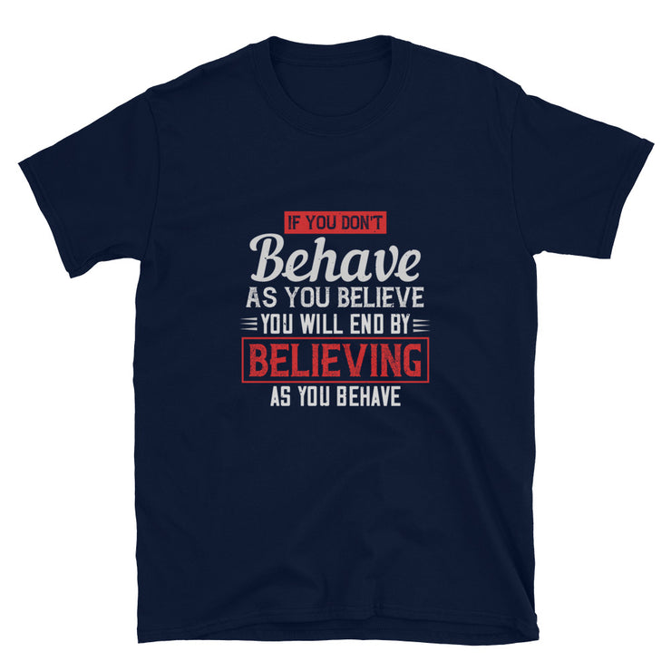 If You Don't Behave As You Believe - Monkeyduds